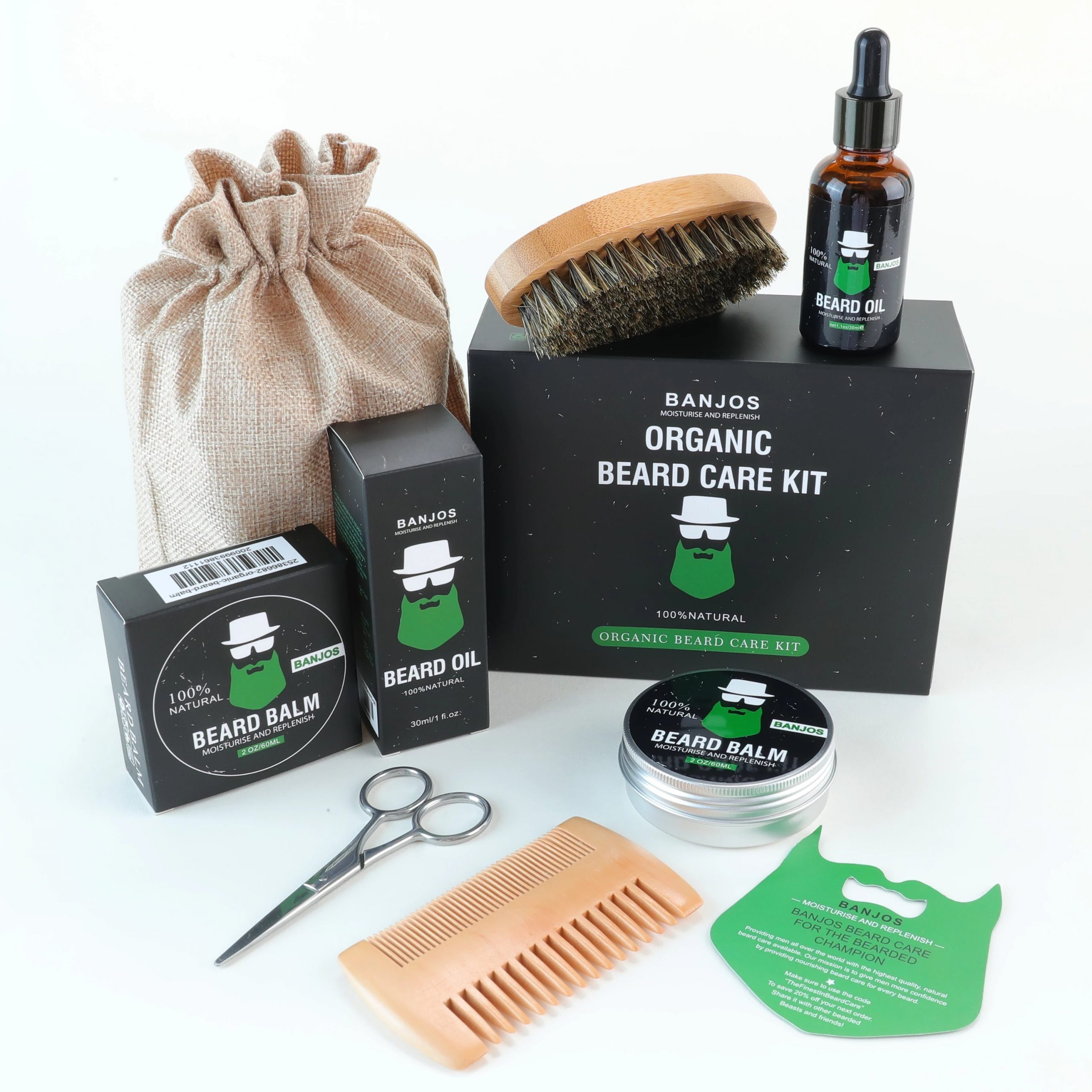 6 Piece Beard Care Kit